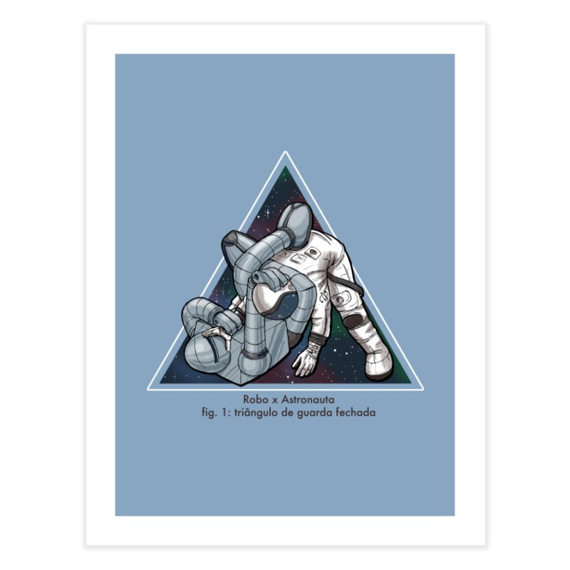 Robo x Astronauta Home Fine Art Print by Robbie Lee's Artist Shop