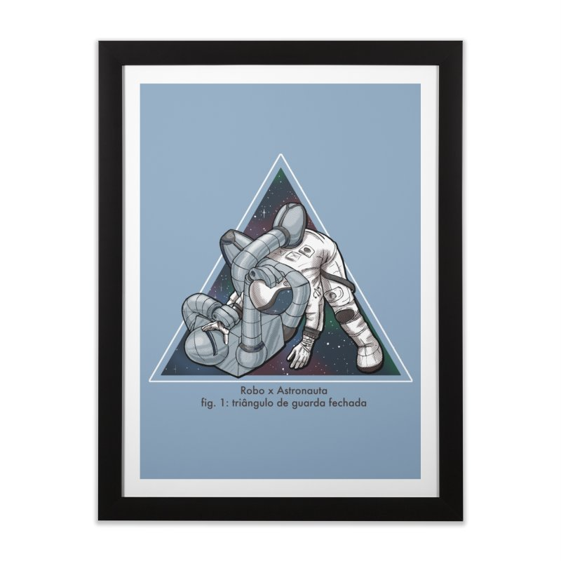 Robo x Astronauta Home Framed Fine Art Print by Robbie Lee's Artist Shop
