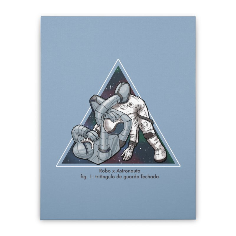 Robo x Astronauta Home Stretched Canvas by Robbie Lee's Artist Shop