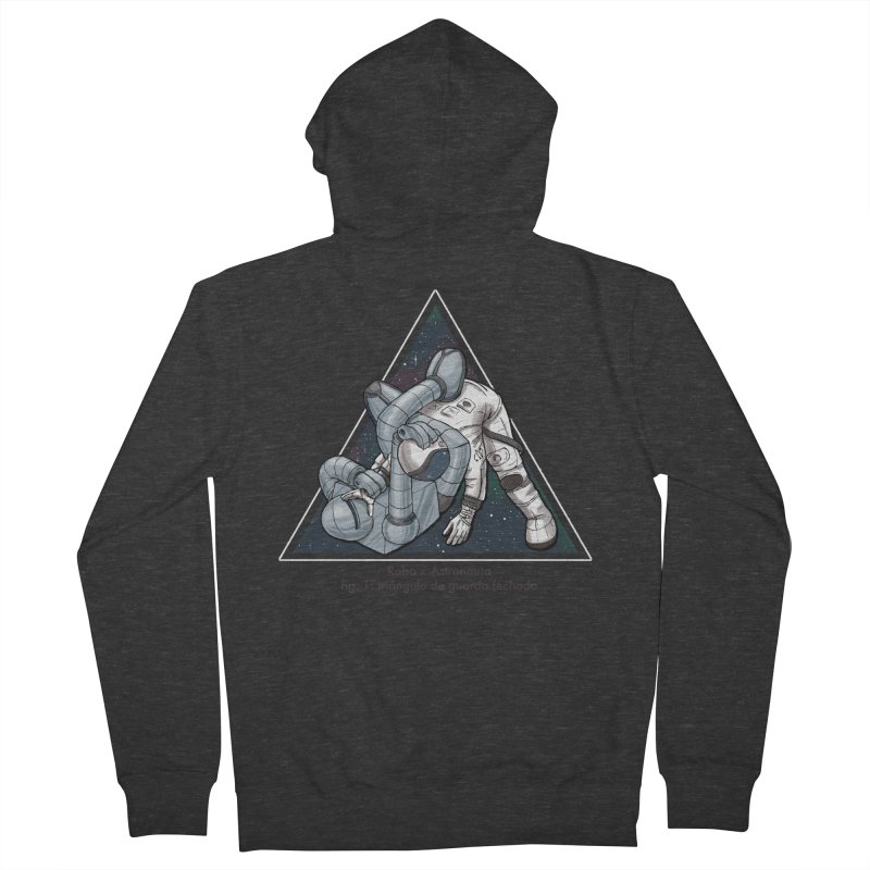 Robo x Astronauta Women's French Terry Zip-Up Hoody by Robbie Lee's Artist Shop