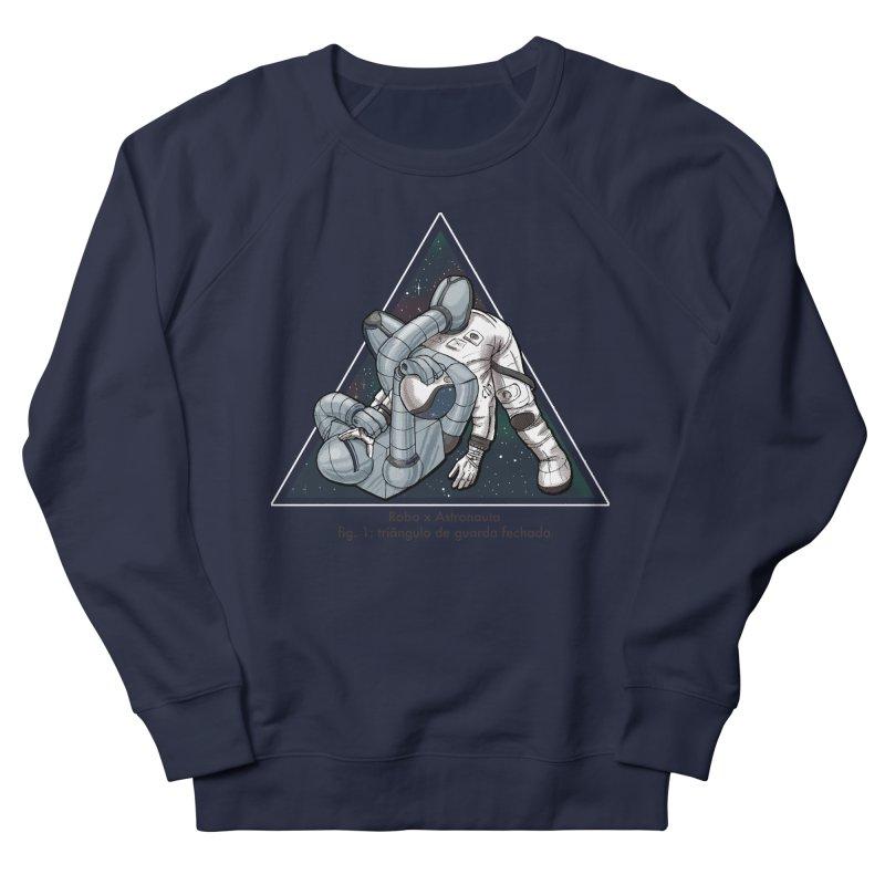 Robo x Astronauta Men's French Terry Sweatshirt by Robbie Lee's Artist Shop