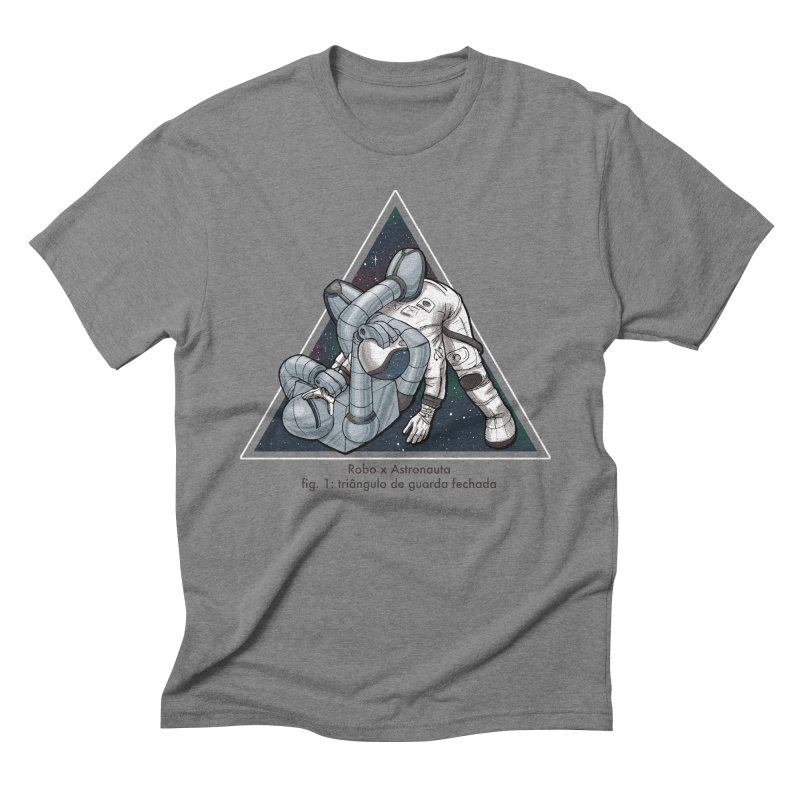 Robo x Astronauta Men's Triblend T-Shirt by Robbie Lee's Artist Shop