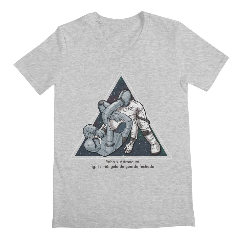 Robo x Astronauta Men's V-Neck by Robbie Lee's Artist Shop