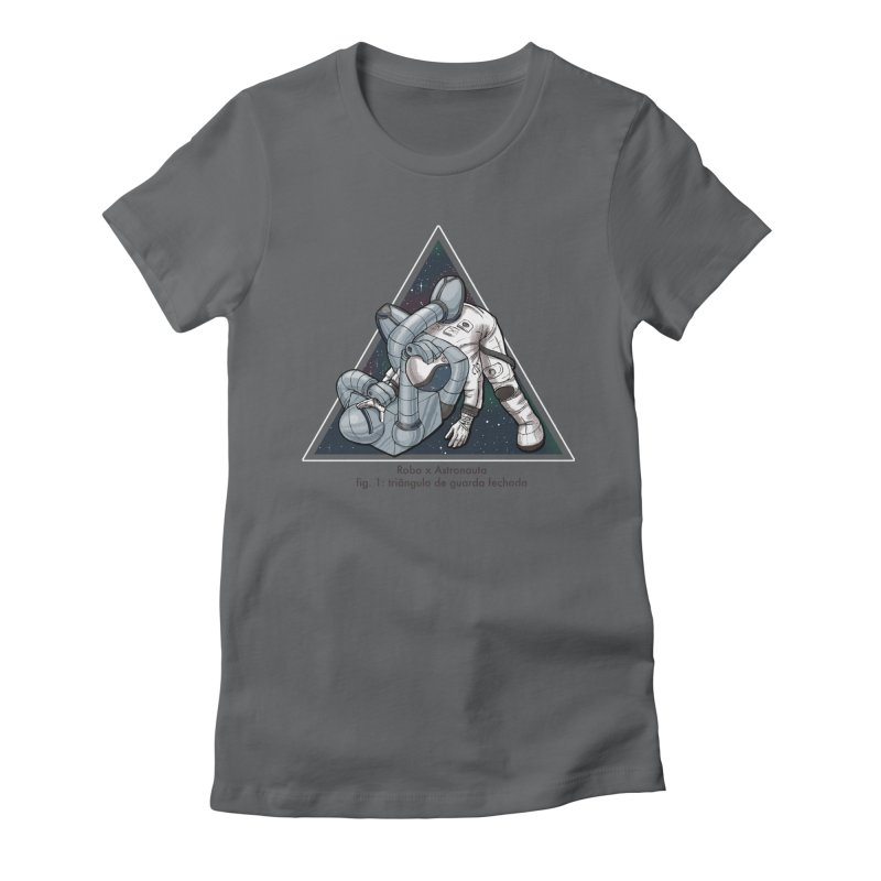 Robo x Astronauta Women's Fitted T-Shirt by Robbie Lee's Artist Shop