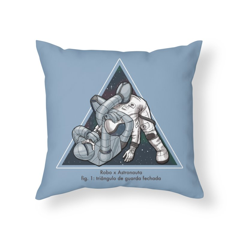 Robo x Astronauta Home Throw Pillow by Robbie Lee's Artist Shop