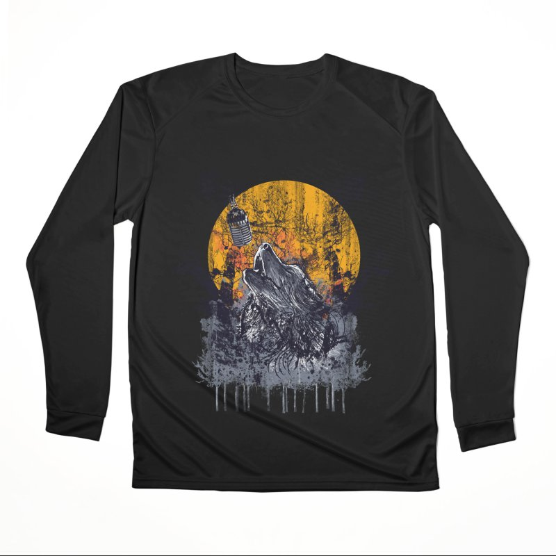 WOLF SERENADE Men's Longsleeve T-Shirt by robbyiodized's Artist Shop