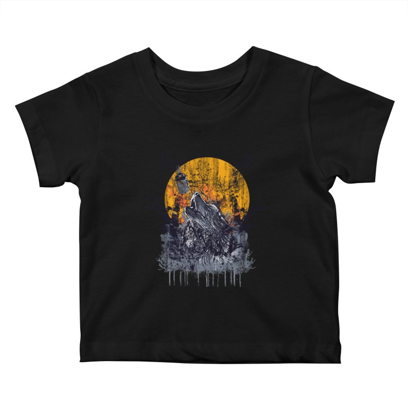 WOLF SERENADE Kids Baby T-Shirt by robbyiodized's Artist Shop
