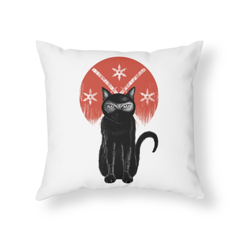 9 LIVES Home Throw Pillow by robbyiodized's Artist Shop