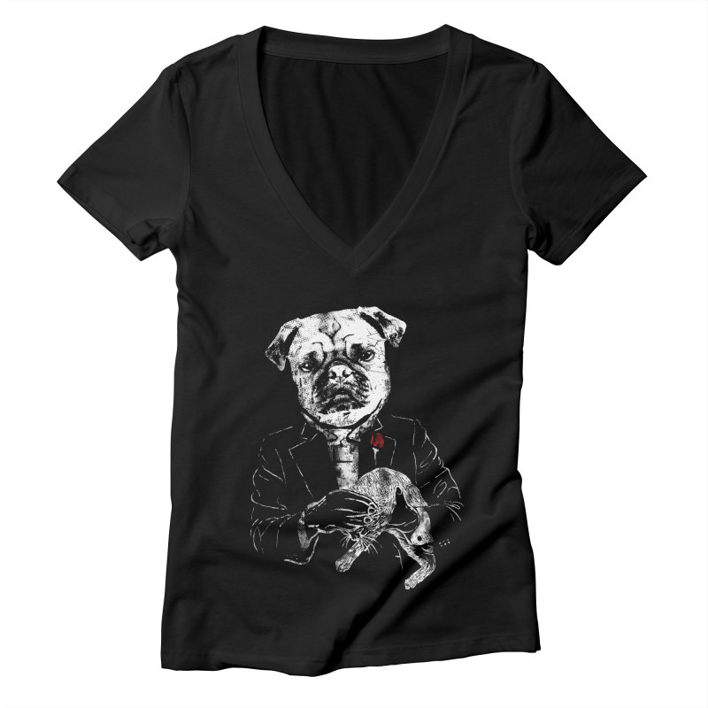 THE CAT FATHER Women's V-Neck by robbyiodized's Artist Shop