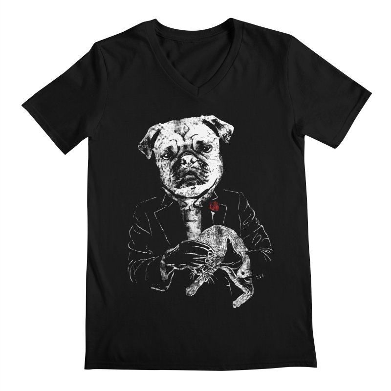 THE CAT FATHER Men's V-Neck by robbyiodized's Artist Shop