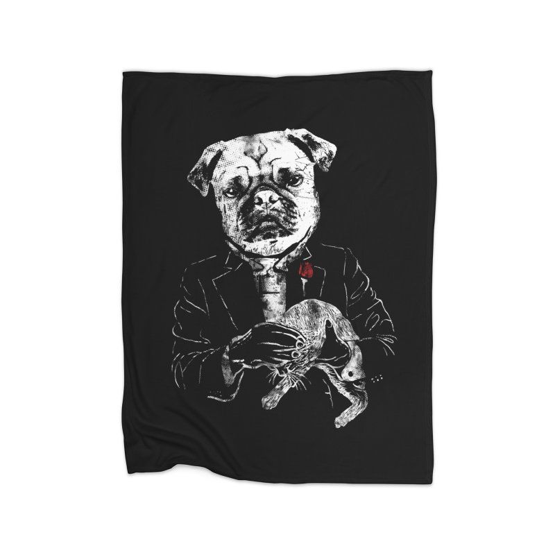 THE CAT FATHER Home Blanket by robbyiodized's Artist Shop