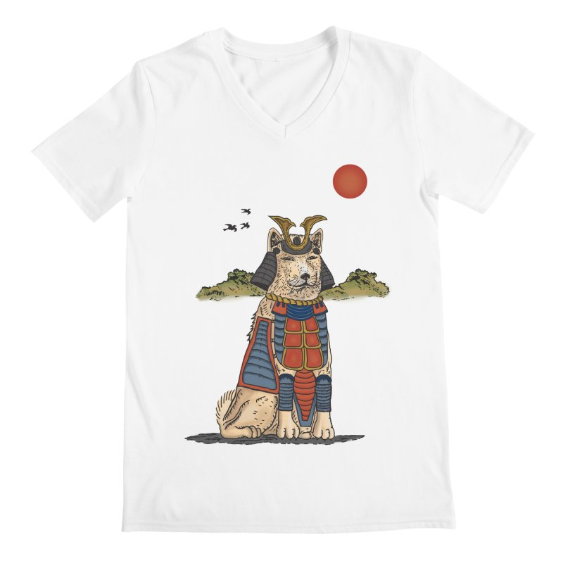 THE DOG WHO CANT BE MOVE Men's V-Neck by robbyiodized's Artist Shop