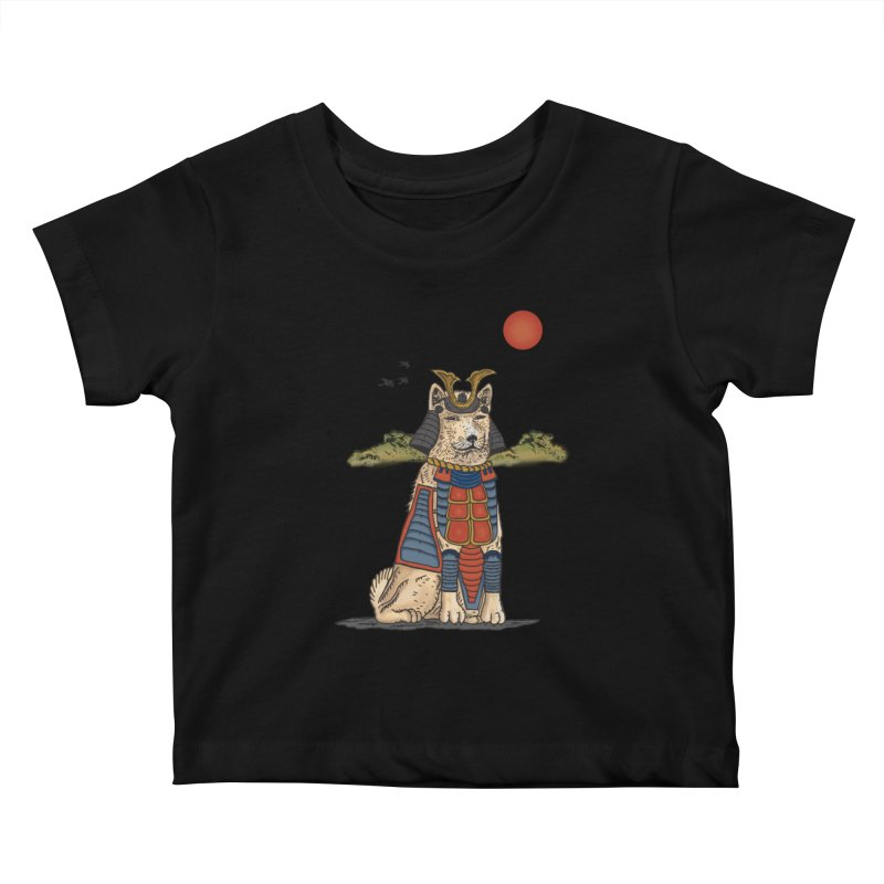 THE DOG WHO CANT BE MOVE Kids Baby T-Shirt by robbyiodized's Artist Shop
