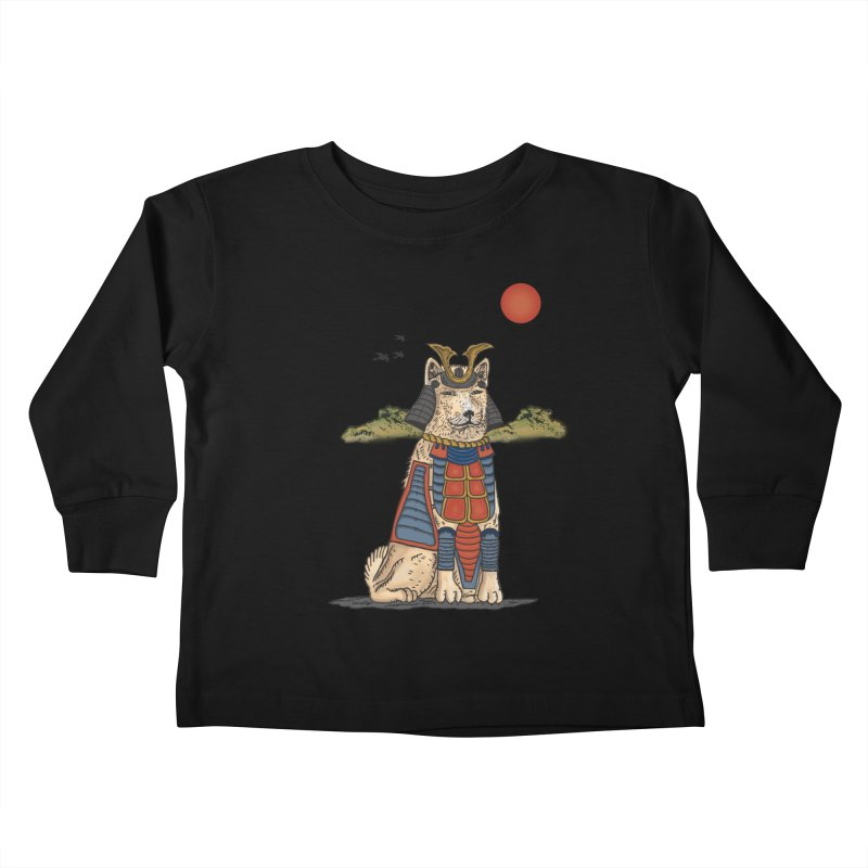 THE DOG WHO CANT BE MOVE Kids Toddler Longsleeve T-Shirt by robbyiodized's Artist Shop