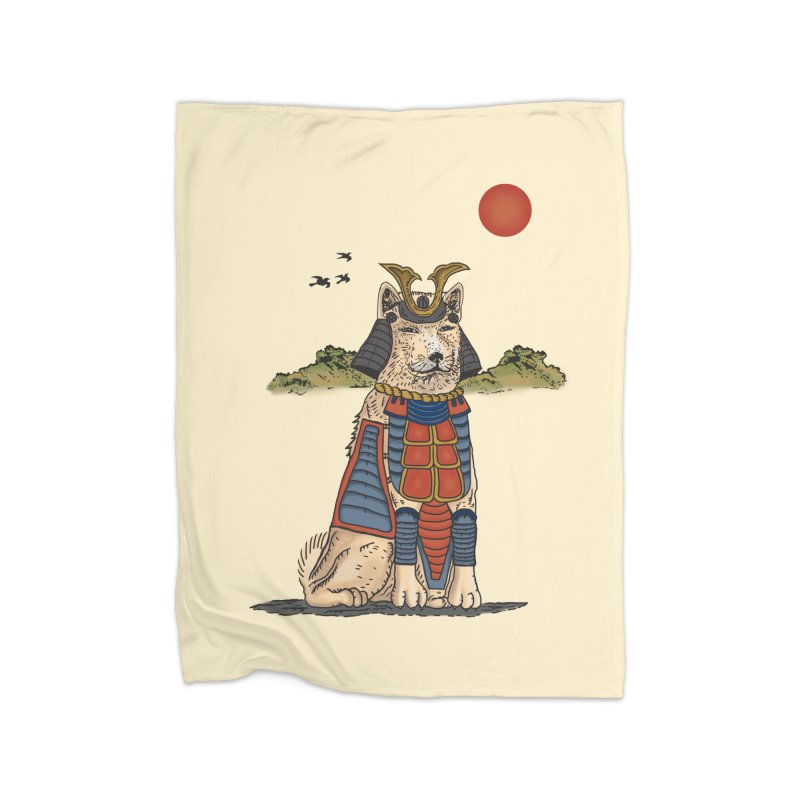 THE DOG WHO CANT BE MOVE Home Blanket by robbyiodized's Artist Shop