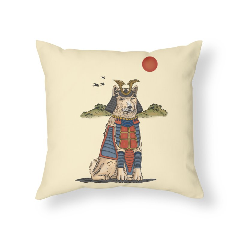 THE DOG WHO CANT BE MOVE Home Throw Pillow by robbyiodized's Artist Shop