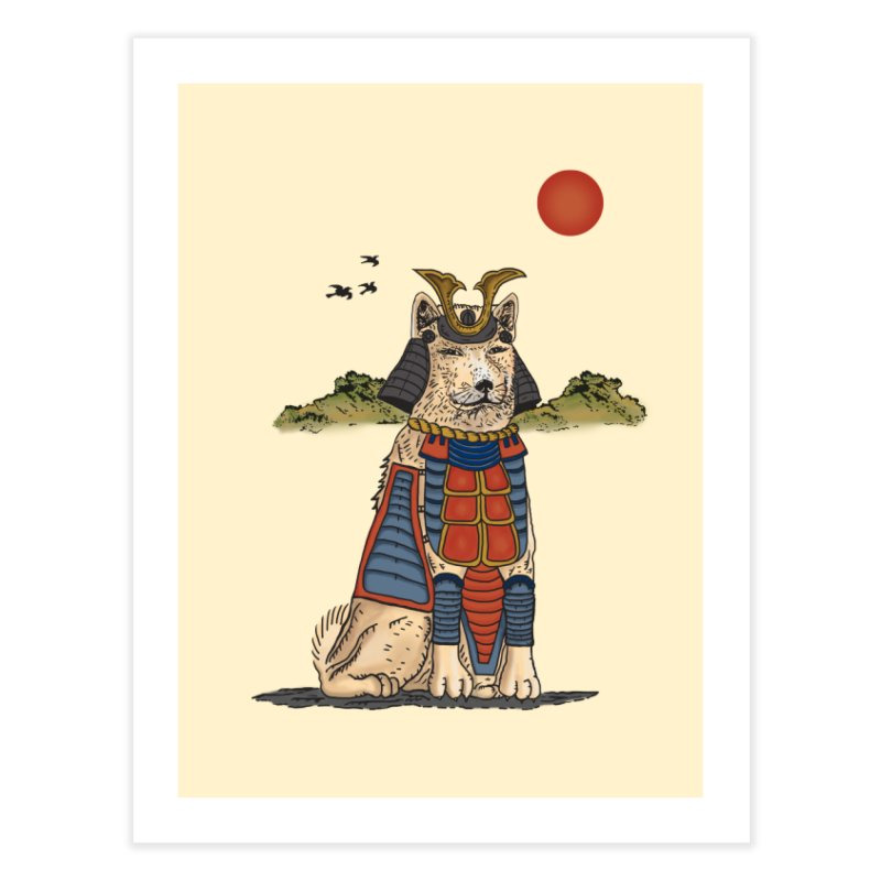 THE DOG WHO CANT BE MOVE Home Fine Art Print by robbyiodized's Artist Shop