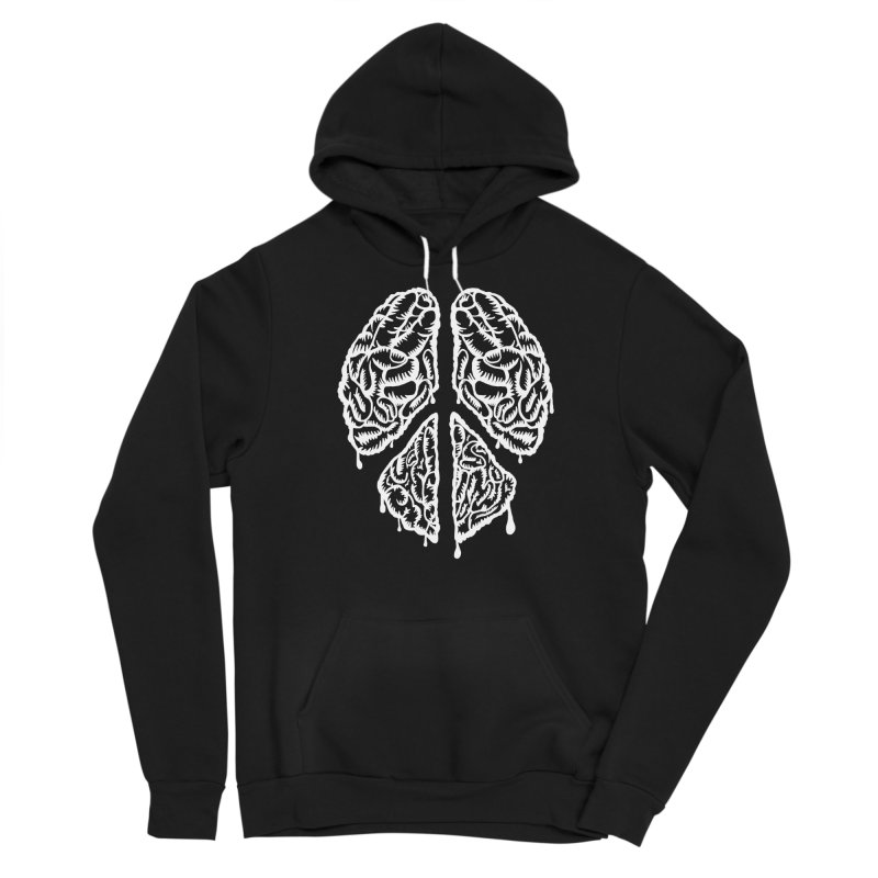 BRAIN PEACE Men's Pullover Hoody by robbyiodized's Artist Shop