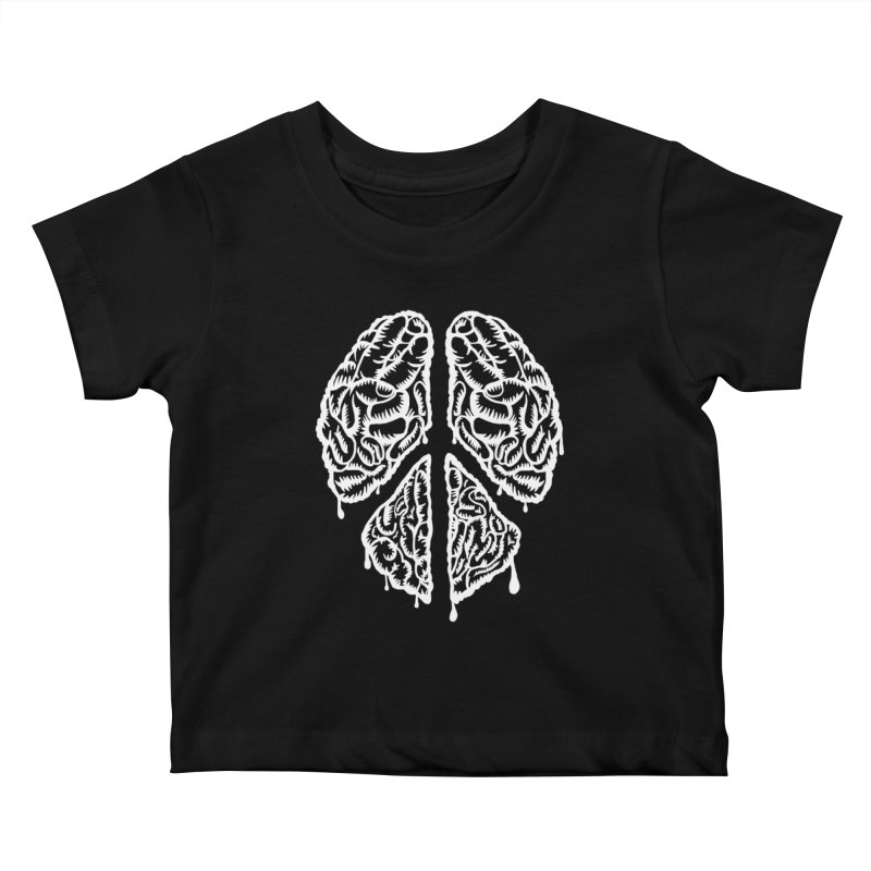 BRAIN PEACE Kids Baby T-Shirt by robbyiodized's Artist Shop