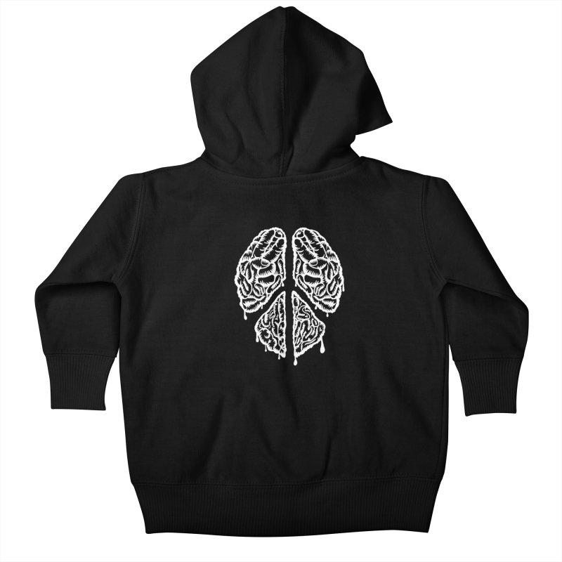 BRAIN PEACE Kids Baby Zip-Up Hoody by robbyiodized's Artist Shop