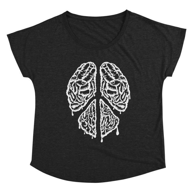 BRAIN PEACE Women's Scoop Neck by robbyiodized's Artist Shop