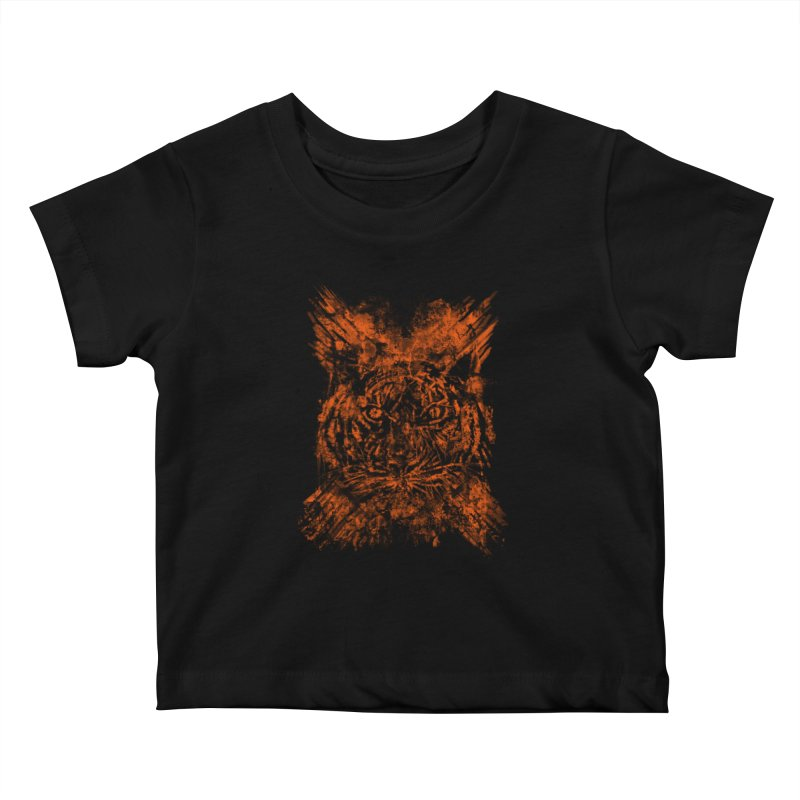 TIGER X Kids Baby T-Shirt by robbyiodized's Artist Shop