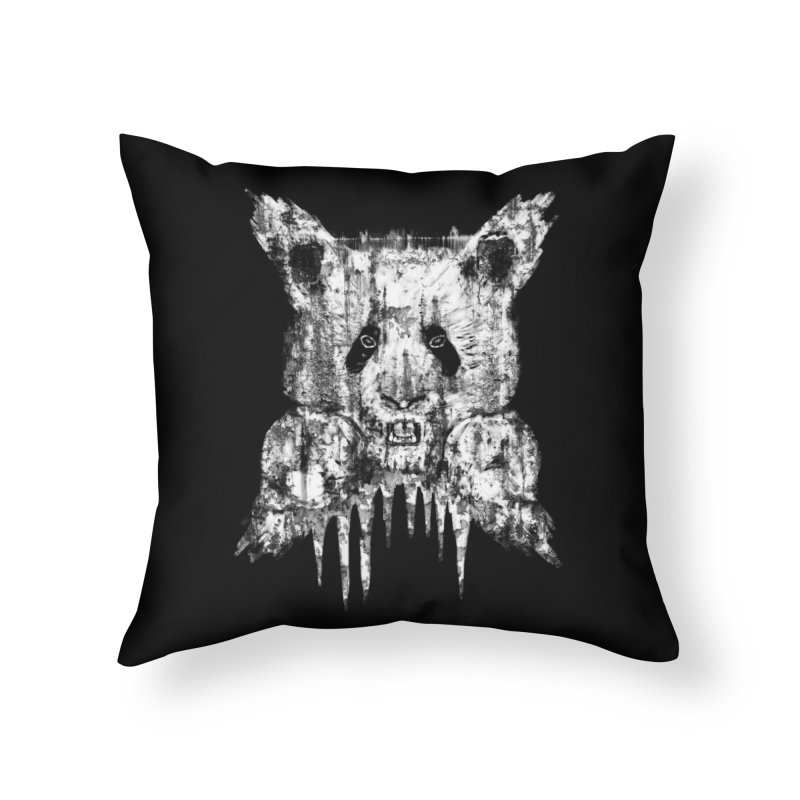 PANDA X Home Throw Pillow by robbyiodized's Artist Shop