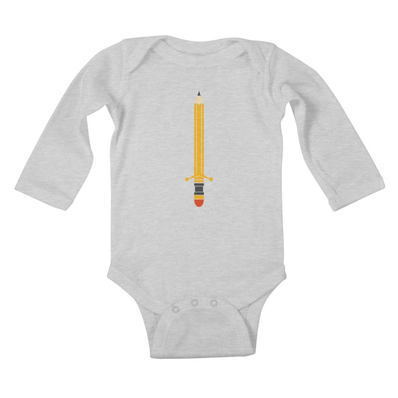 WEAPON OF MASS CREATION Kids Baby Longsleeve Bodysuit by robbyiodized's Artist Shop
