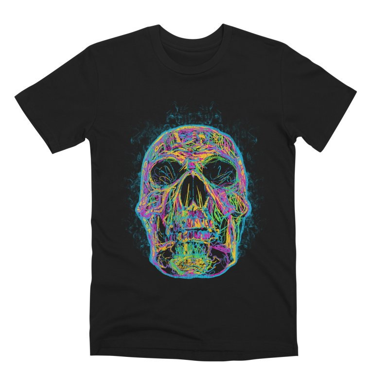 NEON SKULL Men's T-Shirt by robbyiodized's Artist Shop