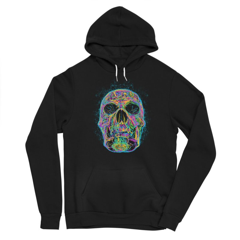 NEON SKULL Men's Pullover Hoody by robbyiodized's Artist Shop