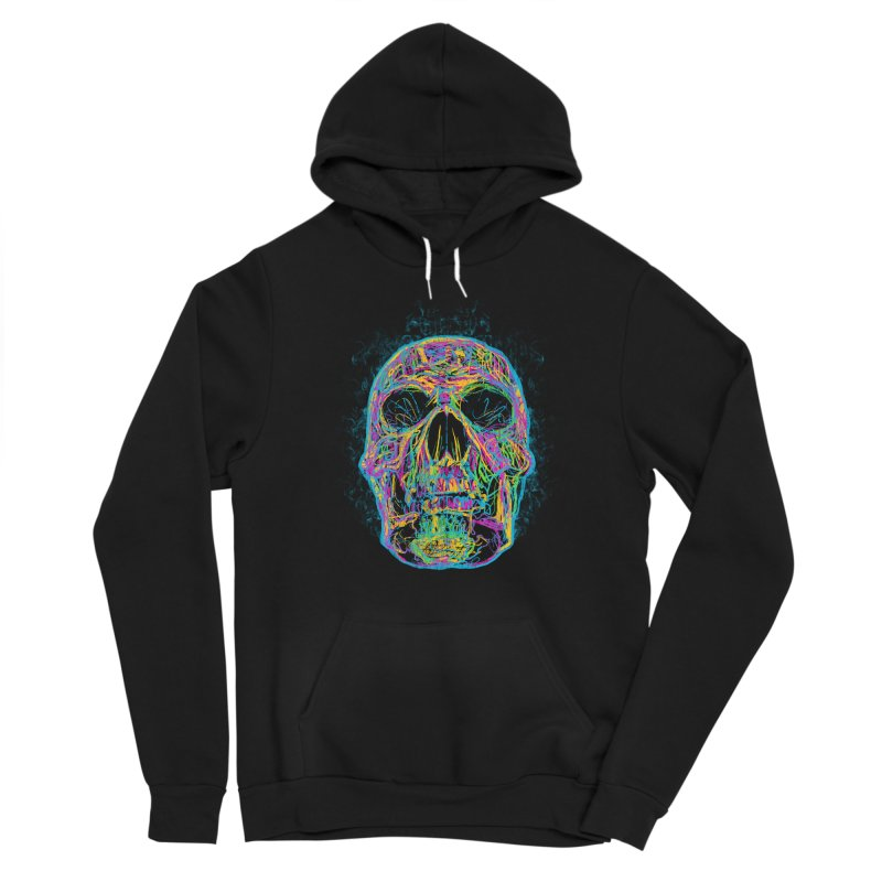 NEON SKULL Women's Pullover Hoody by robbyiodized's Artist Shop