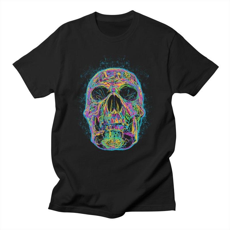 NEON SKULL Men's T-Shirt by robbyiodized's Artist Shop