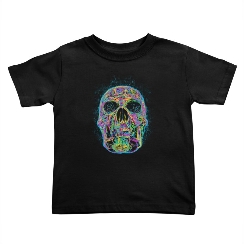 NEON SKULL Kids Toddler T-Shirt by robbyiodized's Artist Shop