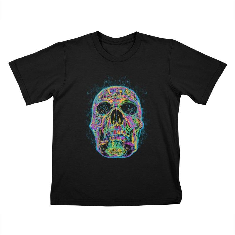 NEON SKULL Kids T-Shirt by robbyiodized's Artist Shop