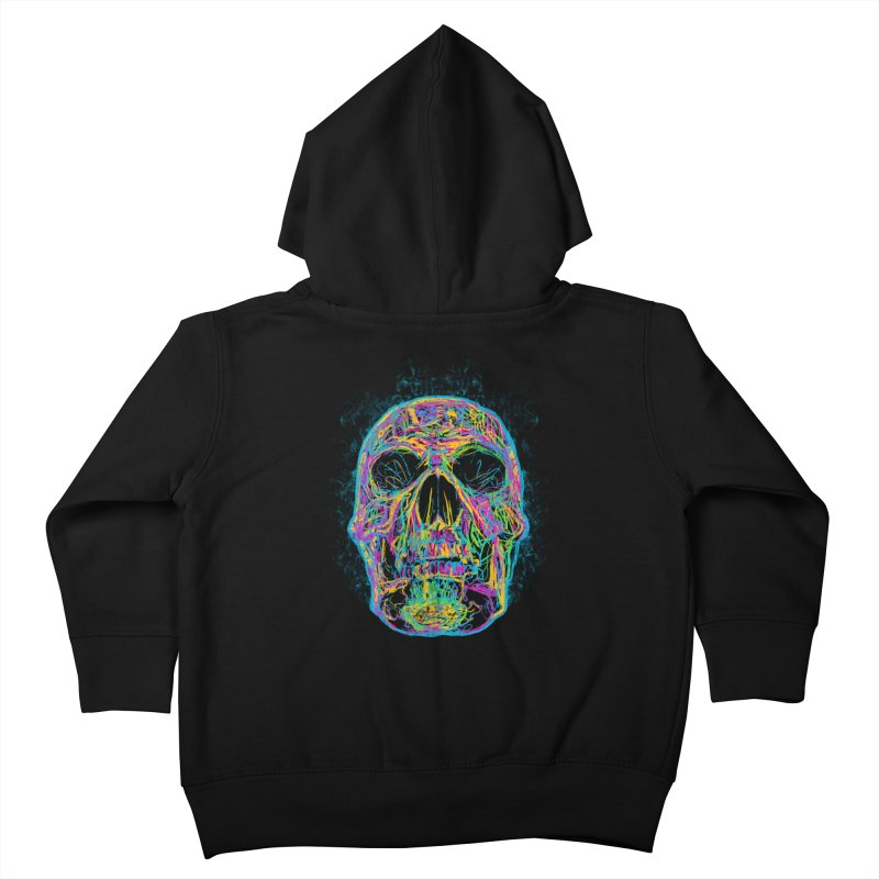 NEON SKULL Kids Toddler Zip-Up Hoody by robbyiodized's Artist Shop