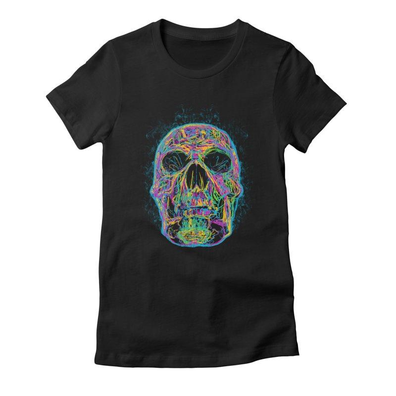 NEON SKULL Women's T-Shirt by robbyiodized's Artist Shop