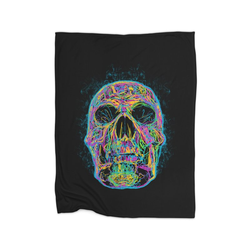 NEON SKULL Home Blanket by robbyiodized's Artist Shop