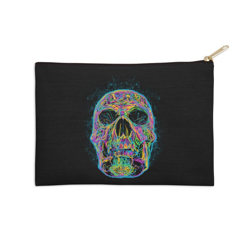 NEON SKULL Accessories Zip Pouch by robbyiodized's Artist Shop