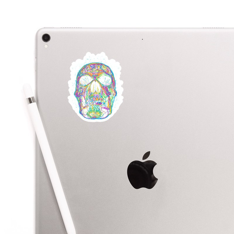 NEON SKULL Accessories Sticker by robbyiodized's Artist Shop