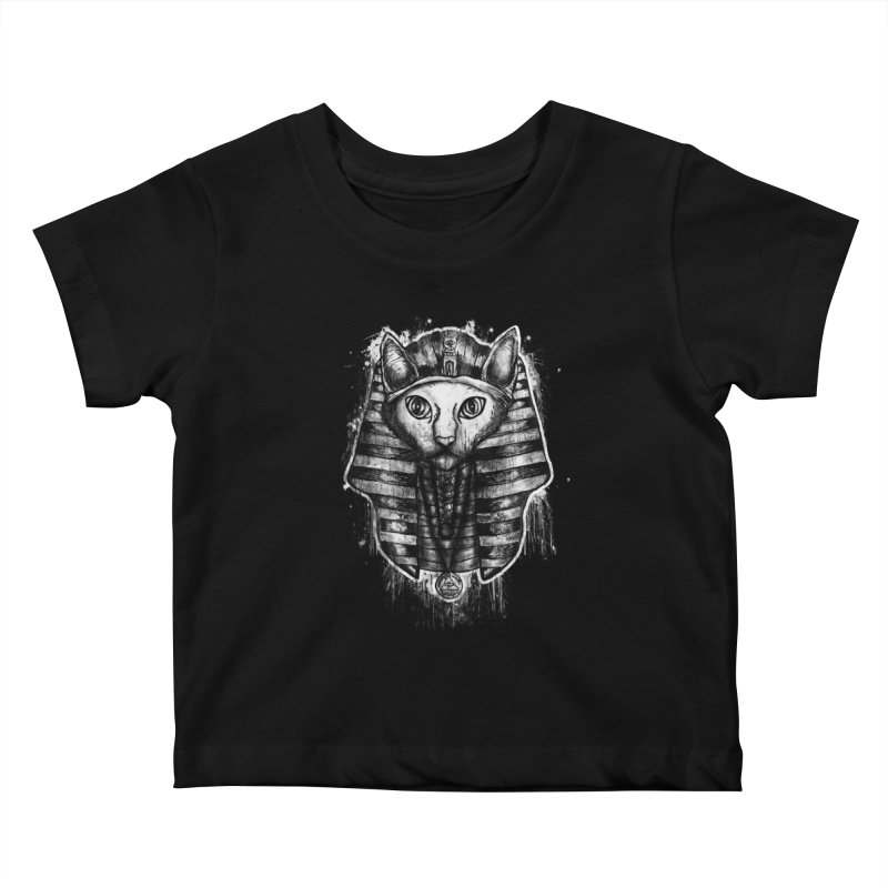 THE PHARAOH CAT Kids Baby T-Shirt by robbyiodized's Artist Shop