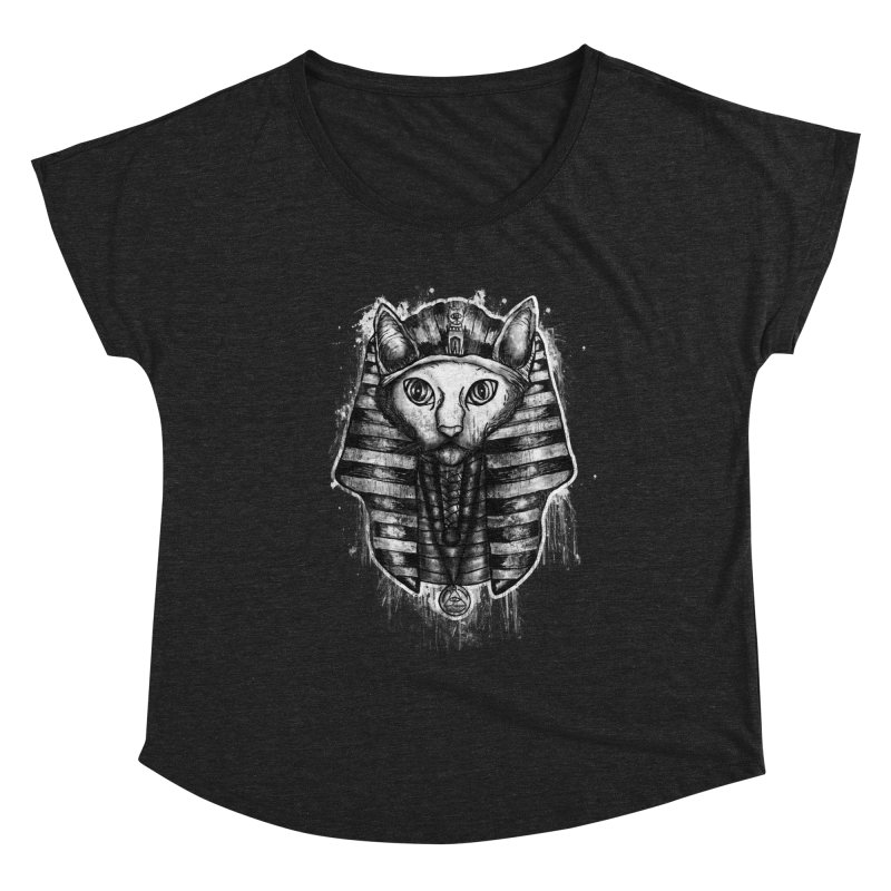 THE PHARAOH CAT Women's Scoop Neck by robbyiodized's Artist Shop