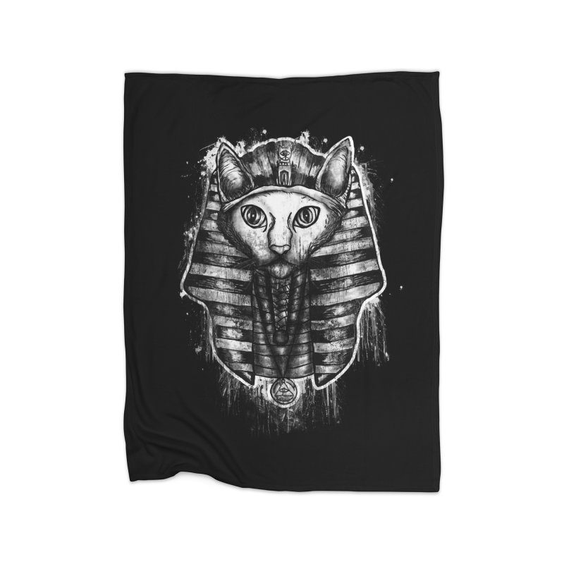 THE PHARAOH CAT Home Blanket by robbyiodized's Artist Shop