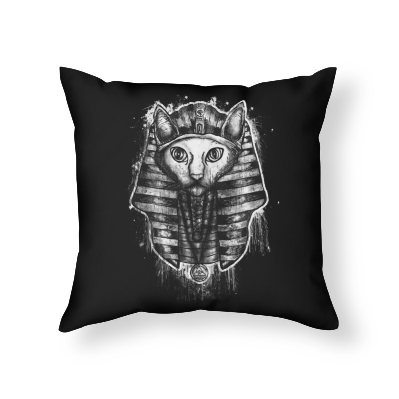 THE PHARAOH CAT Home Throw Pillow by robbyiodized's Artist Shop