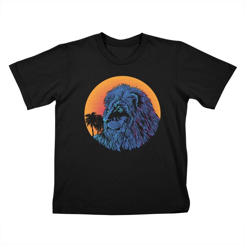 LEO WAVE Kids T-Shirt by robbyiodized's Artist Shop