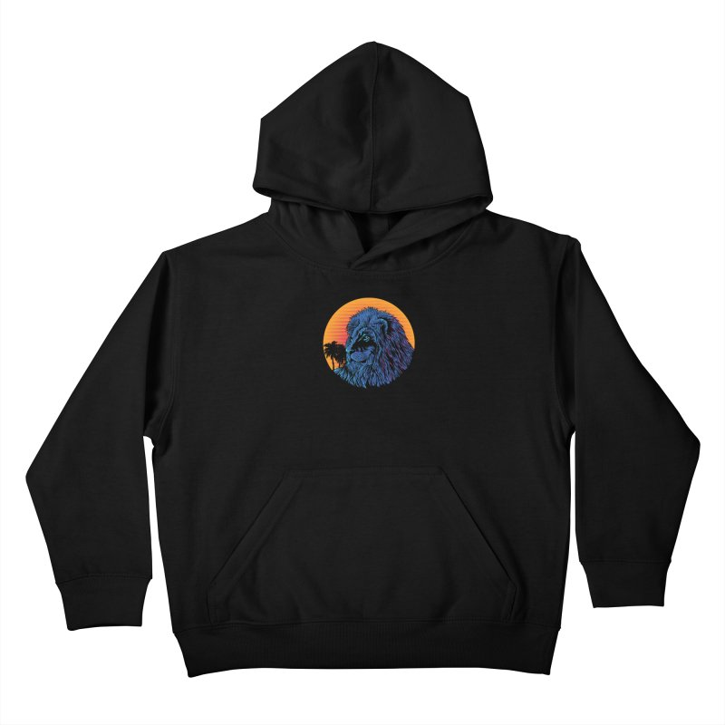 LEO WAVE Kids Pullover Hoody by robbyiodized's Artist Shop