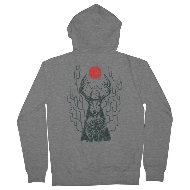 THE BEAST INSIDE Men's Zip-Up Hoody by robbyiodized's Artist Shop