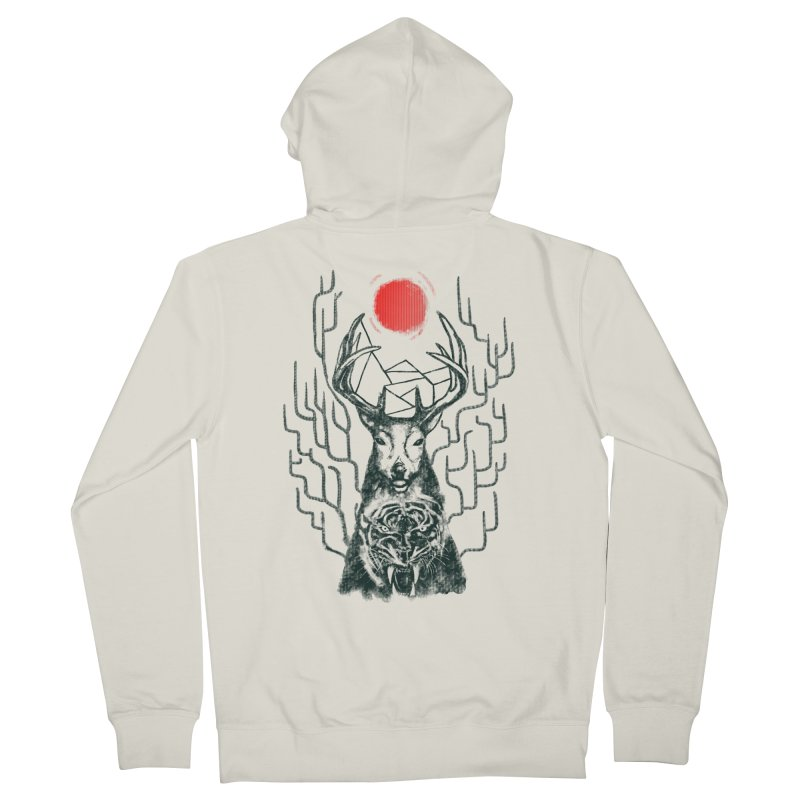 THE BEAST INSIDE Men's French Terry Zip-Up Hoody by robbyiodized's Artist Shop