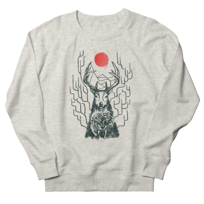 THE BEAST INSIDE Men's French Terry Sweatshirt by robbyiodized's Artist Shop