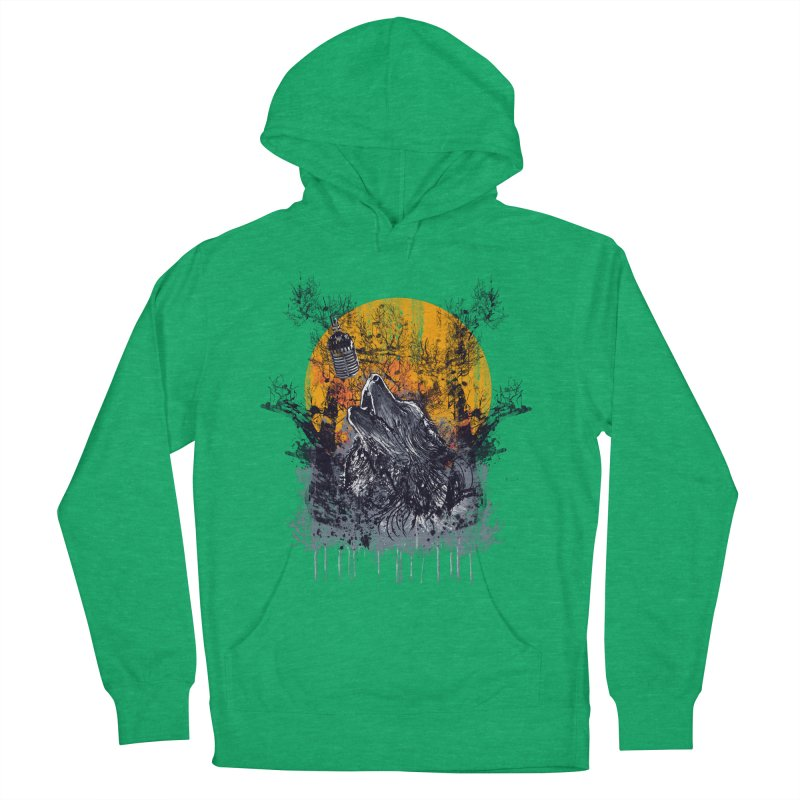 WOLF'S SERENADE Men's French Terry Pullover Hoody by robbyiodized's Artist Shop