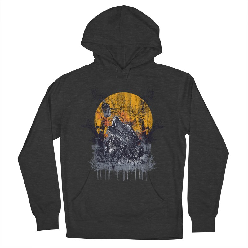 WOLF'S SERENADE Men's Pullover Hoody by robbyiodized's Artist Shop
